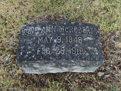 Jane Ann <I>Armatage</I> McRoberts