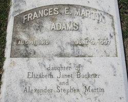 Frances E <I>Martin</I> Adams