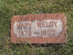 Mary <I>Sheets</I> Weldy