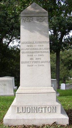 Harriet Foote <I>Marvin</I> Ludington