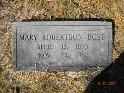 Mary Lee <I>Robertson</I> Boyd