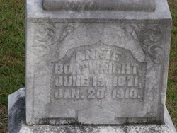 "Anna Elizabeth ""Annie"" <I>McGee</I> Boatwright"