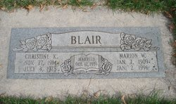 Marion William Blair