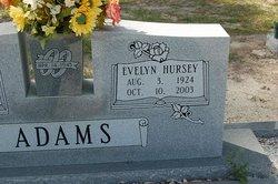 Evelyn <I>Hursey</I> Adams