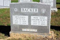 Rose <I>Katz</I> Backer