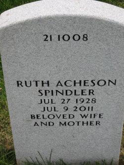 Ruth A <I>Acheson</I> Spindler