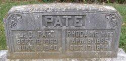 Rhoda Ann <I>Bartlett</I> Pate
