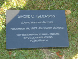 Sadie C <I>Peer</I> Gleason