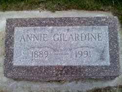 "Annie Bertha ""Mrs. Joe"" <I>Volkel</I> Gilardine"