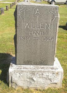 """Elizabeth """"Lizzie"""" <I>Tolbert</I> Allen"""