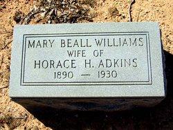 Mary Beale <I>Williams</I> Adkins