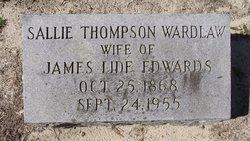 Sallie Thompson <I>Wardlaw</I> Edwards