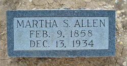Martha Susan <I>Smith</I> Allen