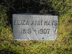 Eliza Ann <I>Kernahan</I> Hays
