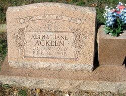 Altha Jane Acklen