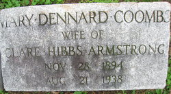 Mary Dennard <I>Coombs</I> Armstrong