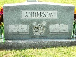 Mary Etta <I>Fields</I> Anderson