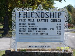 Friendship Free Will Baptist Church Cemetery