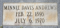 Minnie Almina <I>Davis</I> Andrews