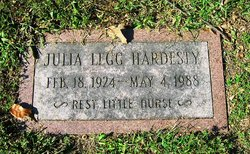 Julia M <I>Legg</I> Hardesty
