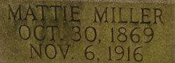 """Martha J """"Mattie"""" <I>Miller</I> Cash"""