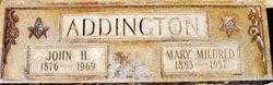 Mary Mildred <I>Earp</I> Addington