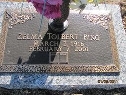 Zelma <I>Tolbert</I> Bing