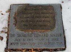 Dr Sigmund Edward Mazur