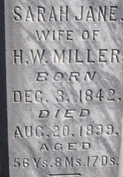 Sarah Jane <I>Berryhill</I> Miller