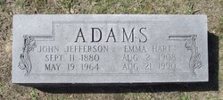 Emma Byrd <I>Hart</I> Adams