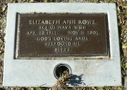 """Elizabeth Ann """"Betty"""" Rowe"""