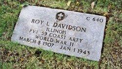 PVT Roy L Davidson