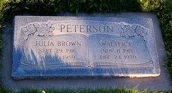 Walter E Peterson