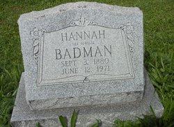 Hannah <I>Schultz</I> Badman