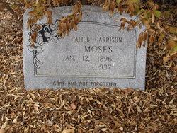 Alice <I>Garrison</I> Moses
