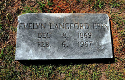 Evelyn <I>Langford</I> Epps