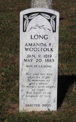 Amanda F. <I>Woolfolk</I> Long