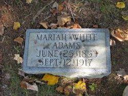 Mariah <I>White</I> Adams