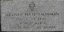 """Agapito Perez """"Pete"""" Balduman"""