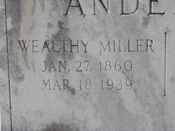 Wealthy <I>Miller</I> Anderson
