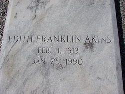 Edith <I>Franklin</I> Akins