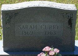 "Sarah Ann Vashti ""Sallie"" <I>Franklin</I> Curry"