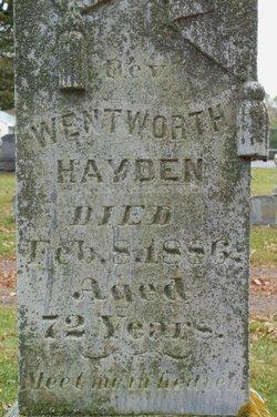 Rev Wentworth Hayden