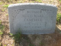 Alice Louise <I>Marr</I> Campbell