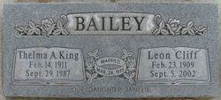 Thelma Arlene <I>King</I> Bailey
