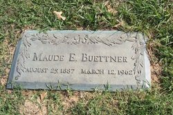 """Maude Elizabeth """"Maunie"""" <I>Woodward</I> Buettner"""