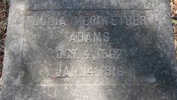 Julia <I>Meriwether</I> Adams