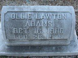 Mary Ollie <I>Lawton</I> Adams