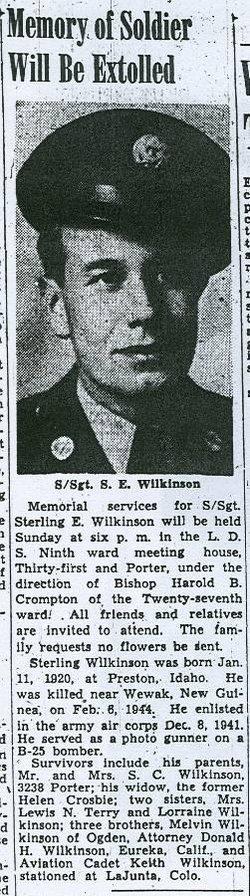 SSgt Sterling E Wilkinson