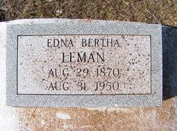 Edna Bertha Leman